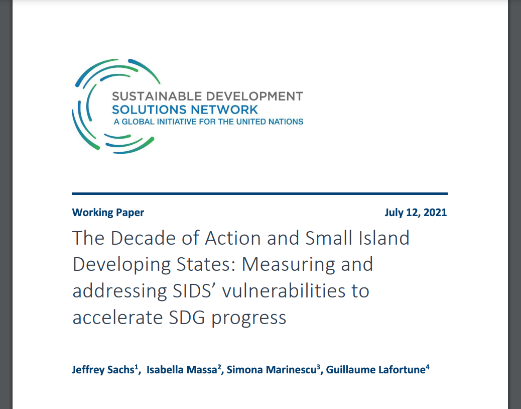 The Decade of Action and Small Island Developing States: Measuring and addressing SIDS' vulnerabilities to accelerate SDG progress